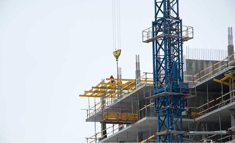 Ход строительства ЖК «Люксембург» (1 очередь). Февраль 2018. Фото.