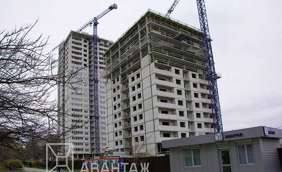 Ход строительства ЖК «Журавли». Ноябрь 2017. Фото