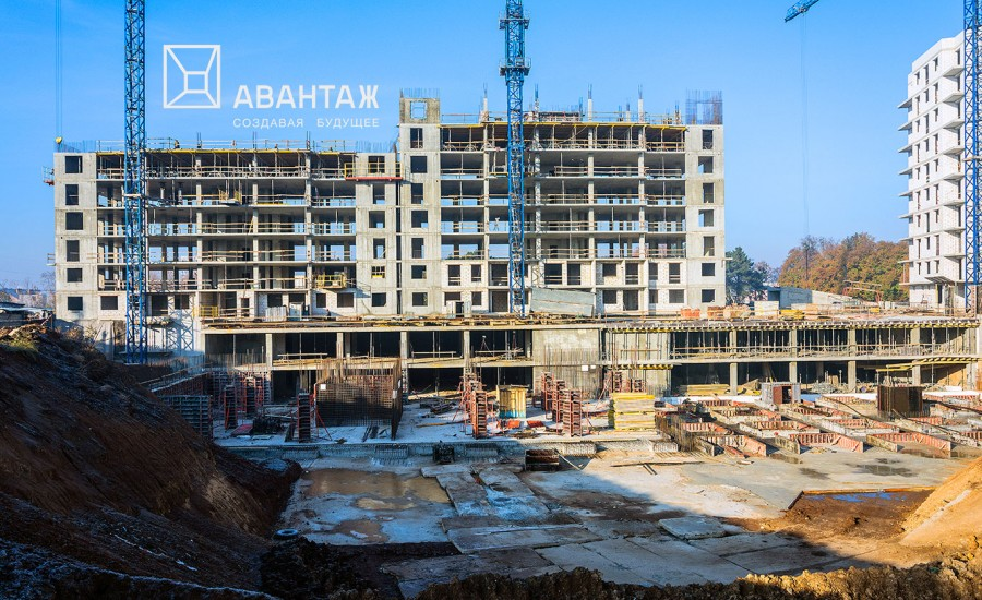 Строительство ЖК «Люксембург» (2 очередь). Ноябрь 2018
