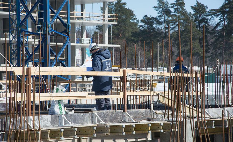Ход строительства ЖК «Люксембург» (2 очередь). Март 2018. Фото.