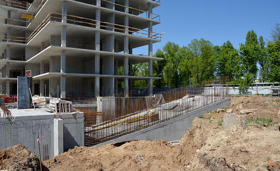 Ход строительства ЖК «Люксембург» (1 очередь). Май 2018. Фото.