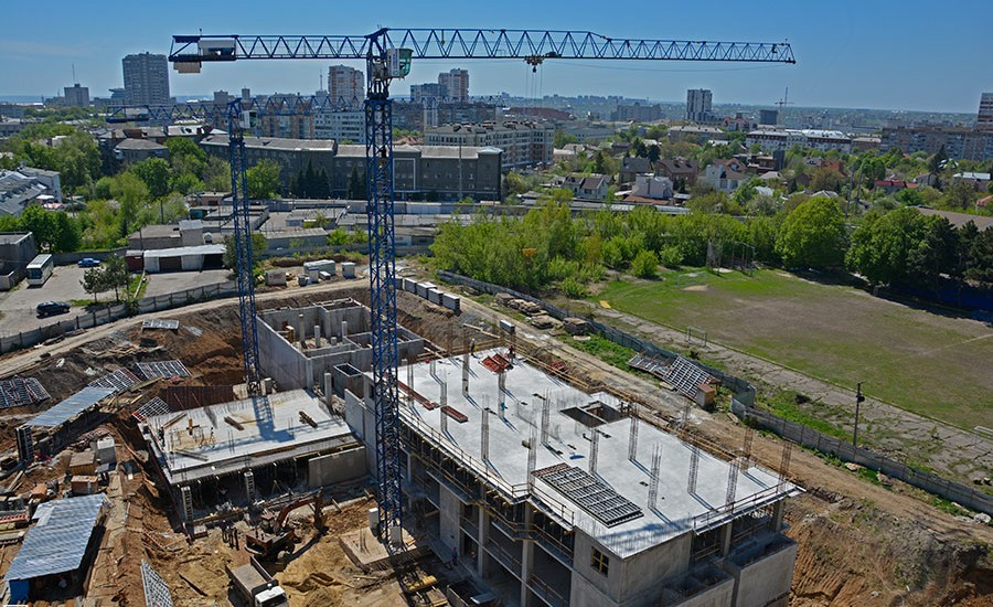 Ход строительства ЖК «Люксембург» (2 очередь). Май 2018. Фото.