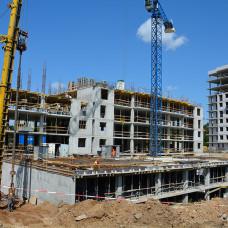 Ход строительства ЖК «Люксембург» (2 очередь). Август 2018. Фото.