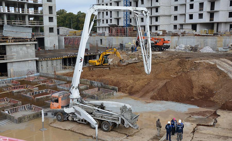 Ход строительства ЖК «Люксембург» (2 очередь). Октябрь 2018. Фото.