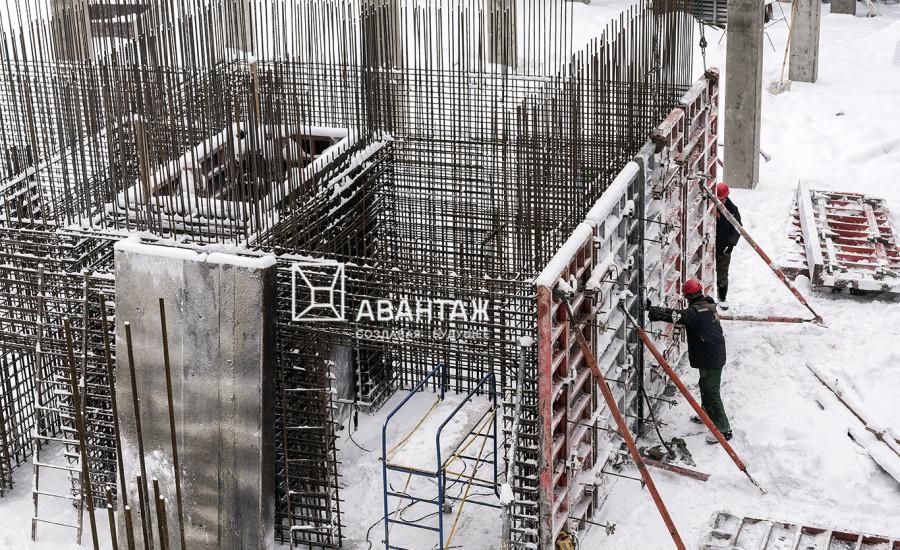 Строительство ЖК «Люксембург» (2 очередь). Январь 2019