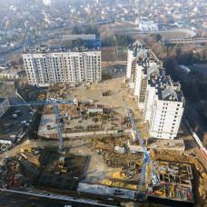 """Ход строительства ЖК """"Люксембург""""  I очередь, январь 2020"""