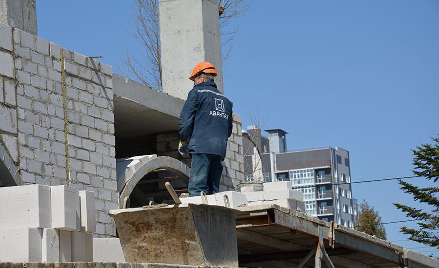 Ход строительства ЖК «Резиденция». Апрель 2018. Фото.
