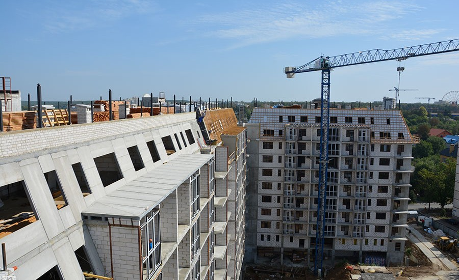 Ход строительства ЖК «Резиденция». Сентябрь 2018. Фото.