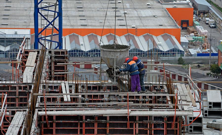 Ход строительства ЖК «Журавли». Апрель 2018. Фото