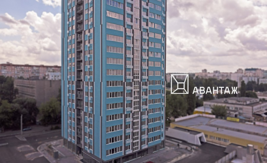Ход строительства ЖК «Журавли» Секция Б. июль 2019.