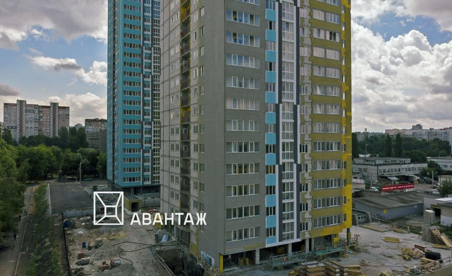 Ход строительства ЖК «Журавли» Секция А. июль 2019.