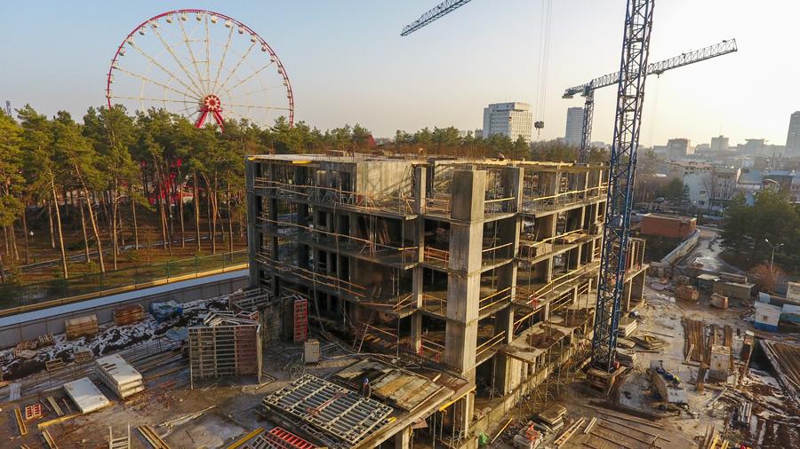 """Ход строительства ЖК """"Люксембург"""" ІІІ очередь, Февраль 2021"""